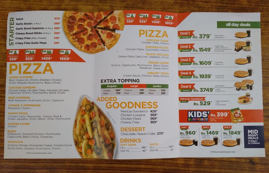 Awe Inspiring California Pizza Menu And Deals In Karachi Restaurant Menu Download Free Architecture Designs Intelgarnamadebymaigaardcom